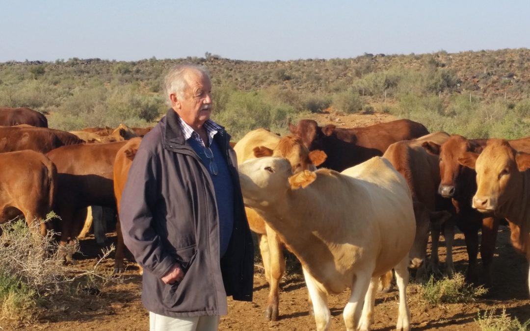 Tecnical advisor Charl van Rooyen during a farm visit